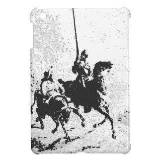 Don Quijote y Sancho Panza iPad Mini Funda