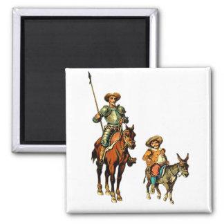 Don Quijote y Sancho Panza Iman De Nevera