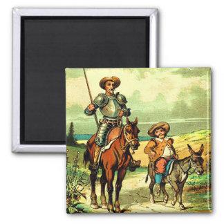 Don Quijote y Sancho Panza Imán Para Frigorífico