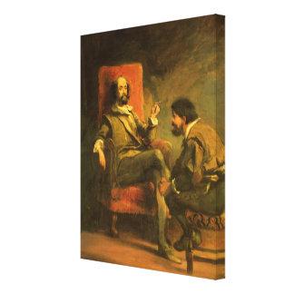 Don Quijote y Sancho Panza Lona Estirada Galerias