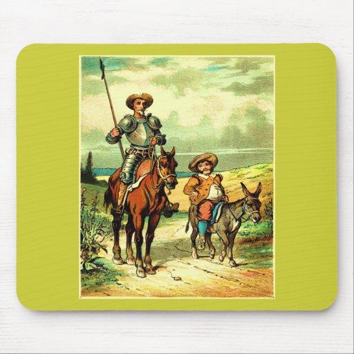 Don Quijote y Sancho Panza Mousepads