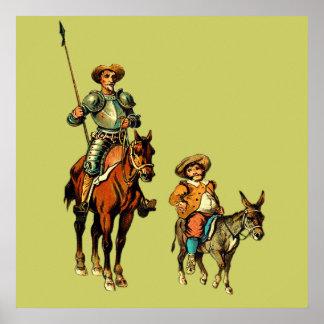 Don Quijote y Sancho Panza Impresiones