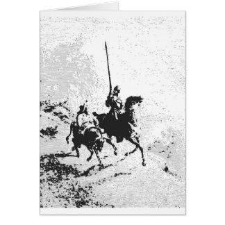Don Quijote y Sancho Panza Tarjeta De Felicitación