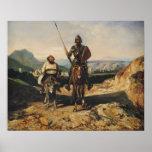 Don Quijote y Sancho Póster