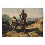 Don Quijote y Sancho Tarjeta De Felicitación