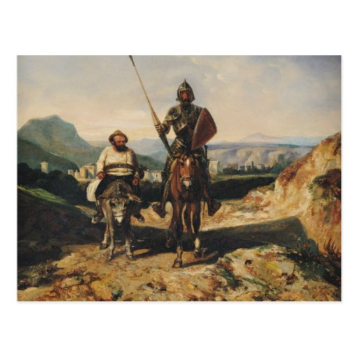 Don Quijote y Sancho Tarjeta Postal