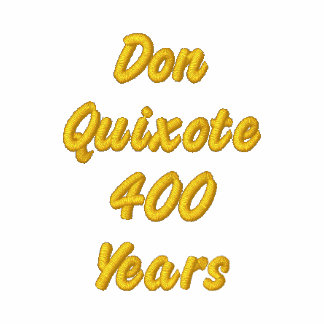 DON QUIXOTE-400 Years- Embroidery Signed bordado Embroidered Hooded Sweatshirt