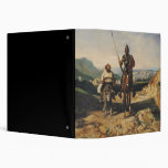 Don Quixote and Sancho 3 Ring Binders