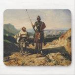 Don Quixote and Sancho Mouse Pad