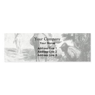 Don Quixote and Sancho Pansa by Honore Daumier Business Card Template