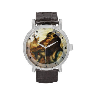 Don Quixote and Sancho Pansa by Honore Daumier Wristwatches