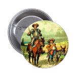 Don Quixote and Sancho Panza 2 Inch Round Button