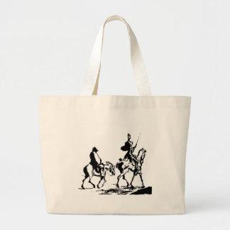 Don Quixote and Sancho Panza Jumbo Tote Bag