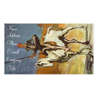 'Don Quixote and Sancho Panza' Business Card