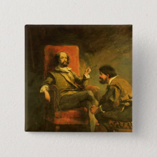 Don Quixote and Sancho Panza Button