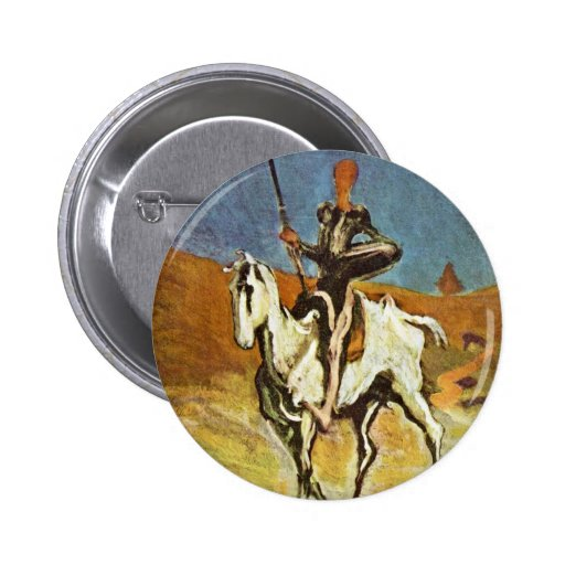 Don Quixote And Sancho Panza By Daumier Honoré (Be Buttons