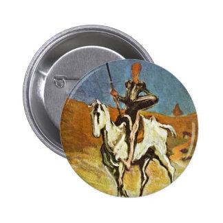 Don Quixote And Sancho Panza By Daumier Honoré (Be Pinback Button