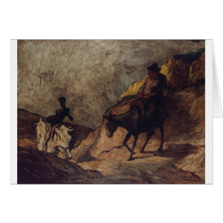 Don Quixote and Sancho Panza by Honoré Daumier Greeting Card