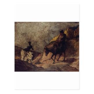 Don Quixote and Sancho Panza by Honoré Daumier Postcard