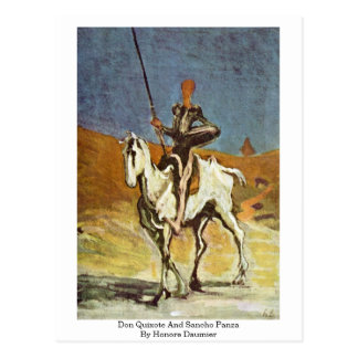 Don Quixote And Sancho Panza By Honore Daumier Postcard