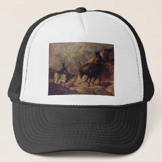 Don Quixote and Sancho Panza by Honoré Daumier Trucker Hat