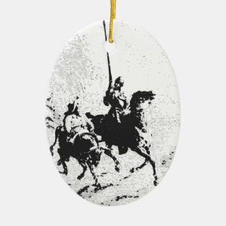 Don Quixote and Sancho Panza Ceramic Ornament