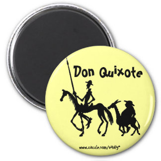 Don Quixote and Sancho Panza graphic art magnet