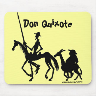 Don Quixote and Sancho Panza graphic art mousepad