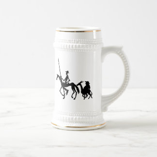 Don Quixote and Sancho Panza graphic art mug