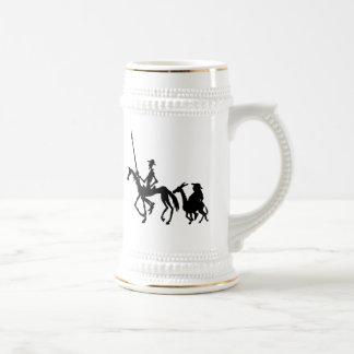 Don Quixote and Sancho Panza graphic art mug