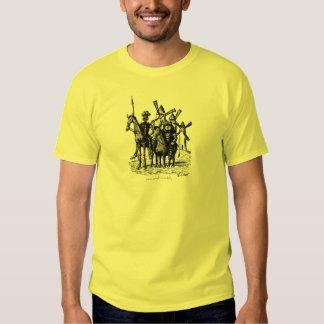 Don Quixote and Sancho Panza ink pen drawing art T Shirt