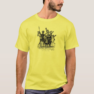 Don Quixote and Sancho Panza ink pen drawing art T-Shirt