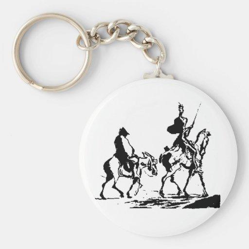 Don Quixote and Sancho Panza Key Chain