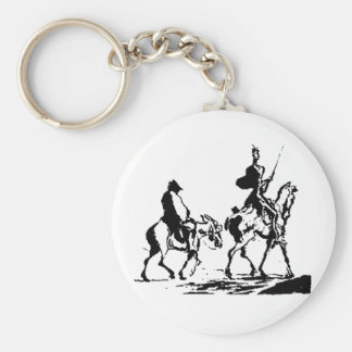 Don Quixote and Sancho Panza Keychain