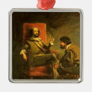 Don Quixote and Sancho Panza Metal Ornament
