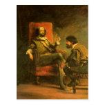 Don Quixote and Sancho Panza Post Card