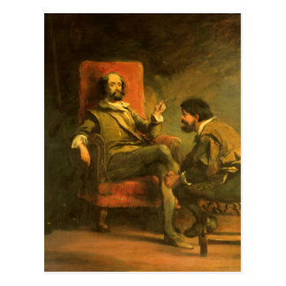 Don Quixote and Sancho Panza Postcard