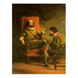 Don Quixote and Sancho Panza Postcard
