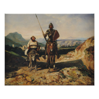 Don Quixote and Sancho Poster