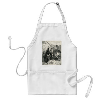 Don Quixote and the lady Adult Apron
