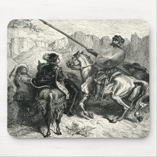 Don Quixote and the lady Mousepads