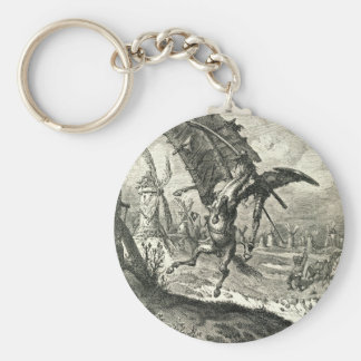 Don Quixote and the Windmills Keychain