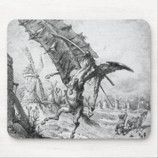 Don Quixote and the Windmills Mouse Pad