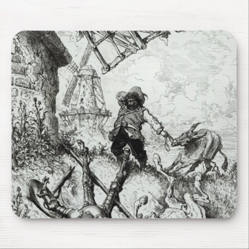 Don Quixote and the Windmills Mousepad