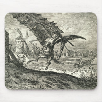 Don Quixote and the Windmills Mousepads