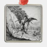 Don Quixote and the Windmills Christmas Tree Ornaments