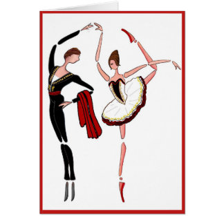 DON QUIXOTE BALLET COUPLE- SPANISH DANCE CARD