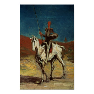 Don Quixote, c.1865-1870 Poster