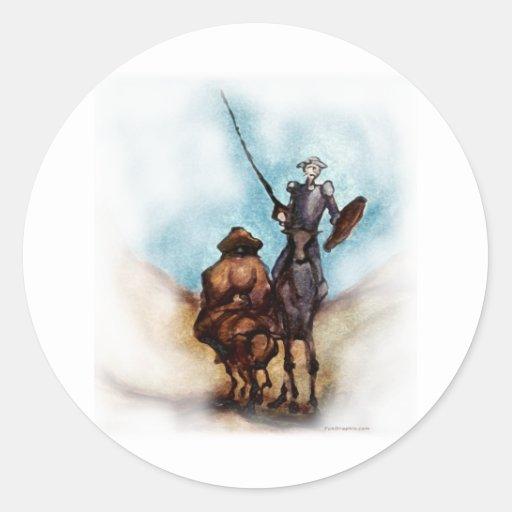 Don Quixote Classic Round Sticker