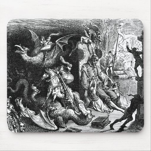 Don Quixote Dreaming Mouse Pad